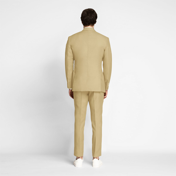 Light Khaki Sand Cotton Suit-mbview-2