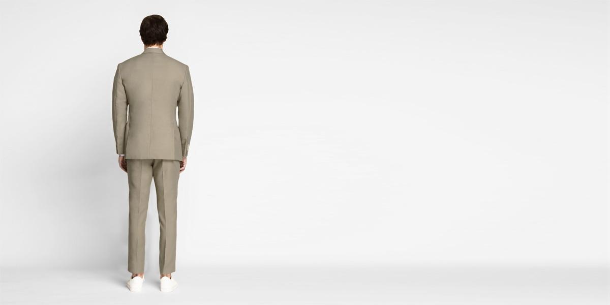 Pebble Brown Khaki Cotton Suit- view-2