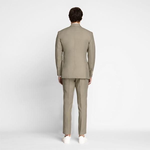 Pebble Brown Khaki Cotton Suit-mbview-2