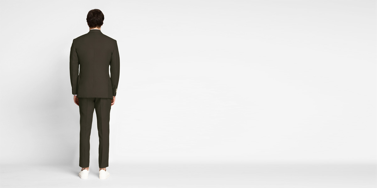 Taupe Green Khaki Cotton Suit- view-2