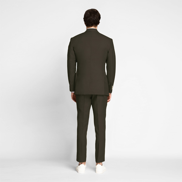 Taupe Green Khaki Cotton Suit-mbview-2