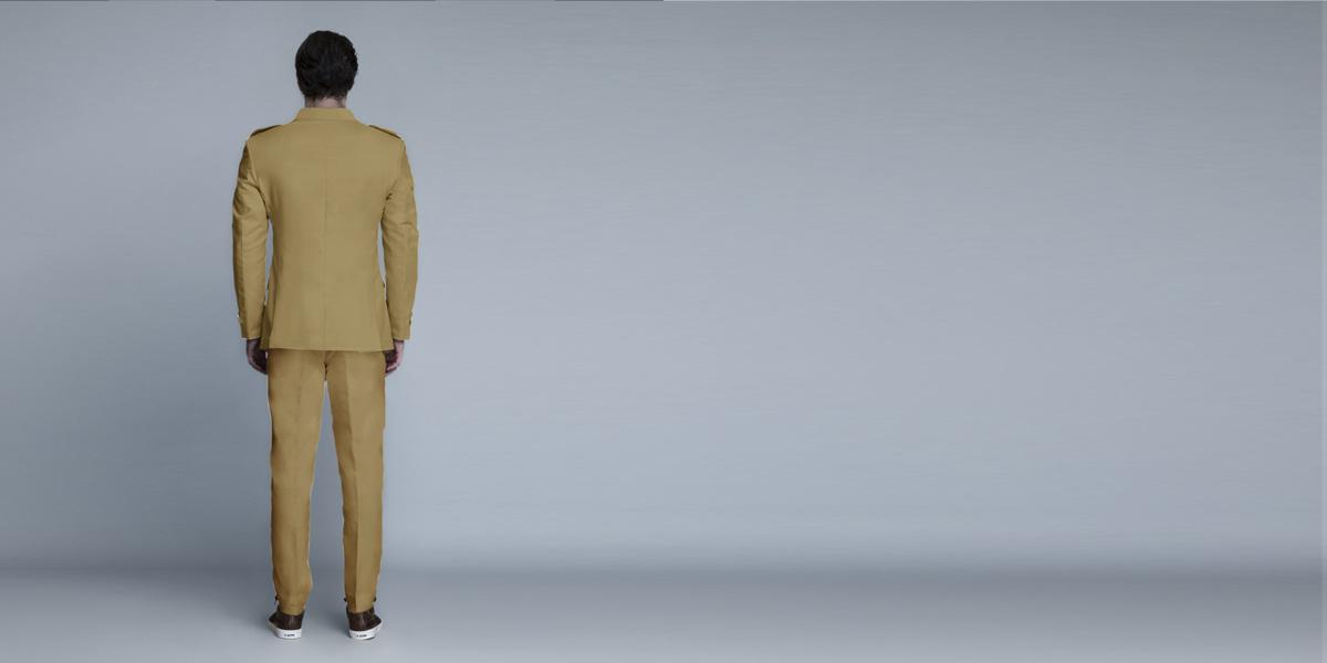 English Khaki Leisure Suit- view-2