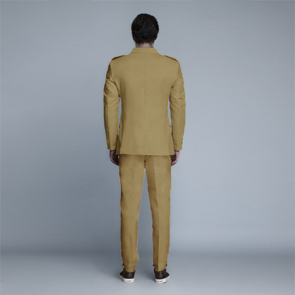 English Khaki Leisure Suit-mbview-2