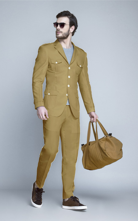 English Khaki Leisure Suit