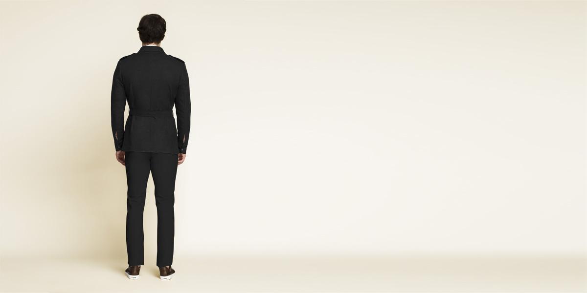 Debonair Black Military Suit- view-2