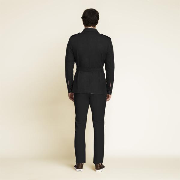 Debonair Black Military Suit-mbview-2