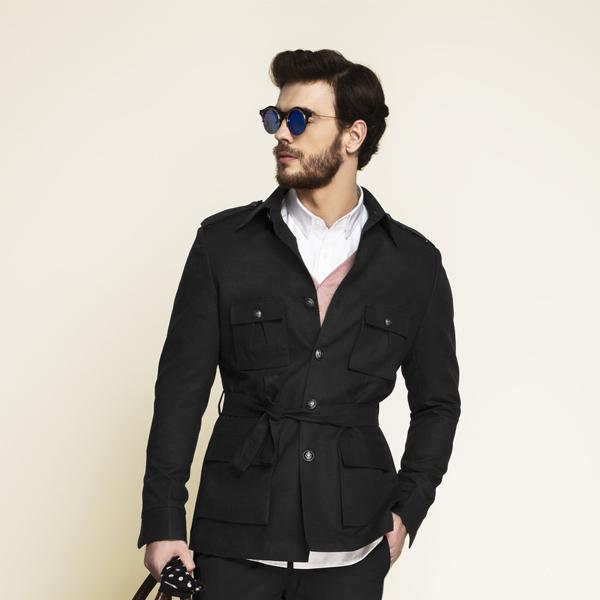 Debonair Black Military Suit-mbview-3