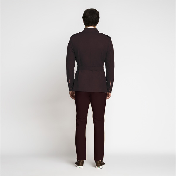 Cocktail Burgundy Military Suit-mbview-2