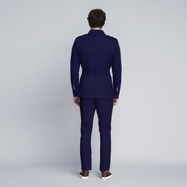 Moonraker Royal Blue Military Suit-mbview-2