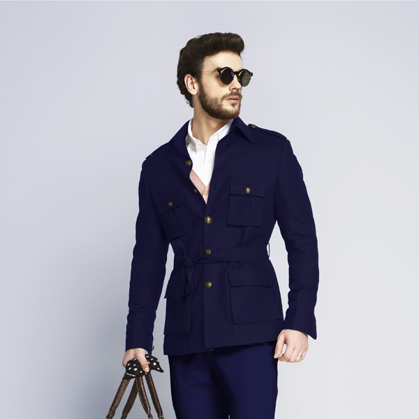 Moonraker Royal Blue Military Suit-mbview-3