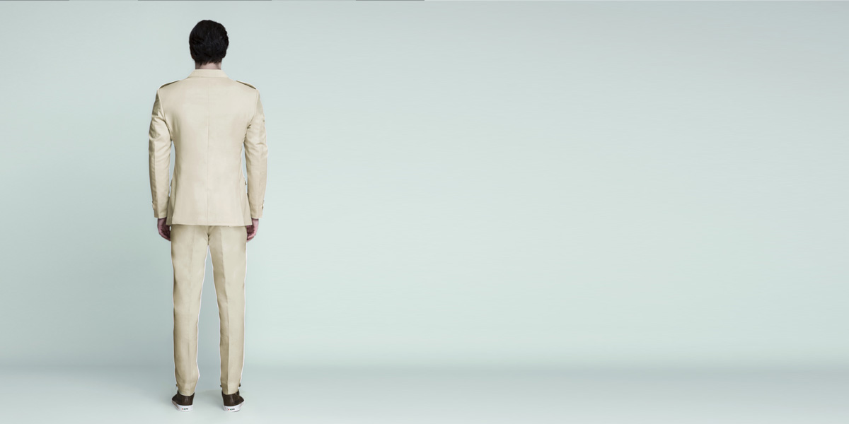 Kruger Khaki Cream Leisure Suit- view-2