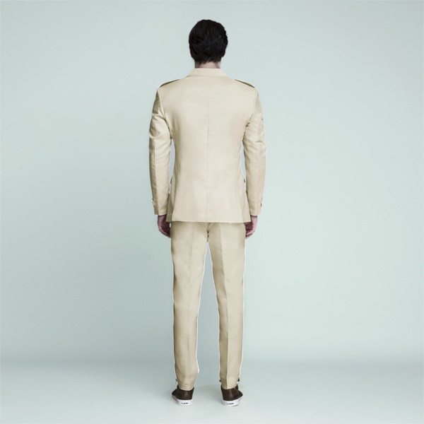 Kruger Khaki Cream Leisure Suit-mbview-2