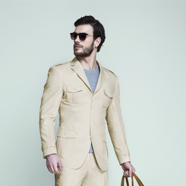 Kruger Khaki Cream Leisure Suit-mbview-3