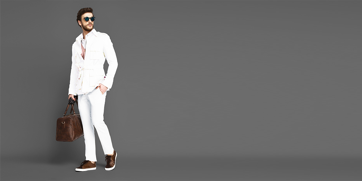 Napoli White Military Suit- view-1