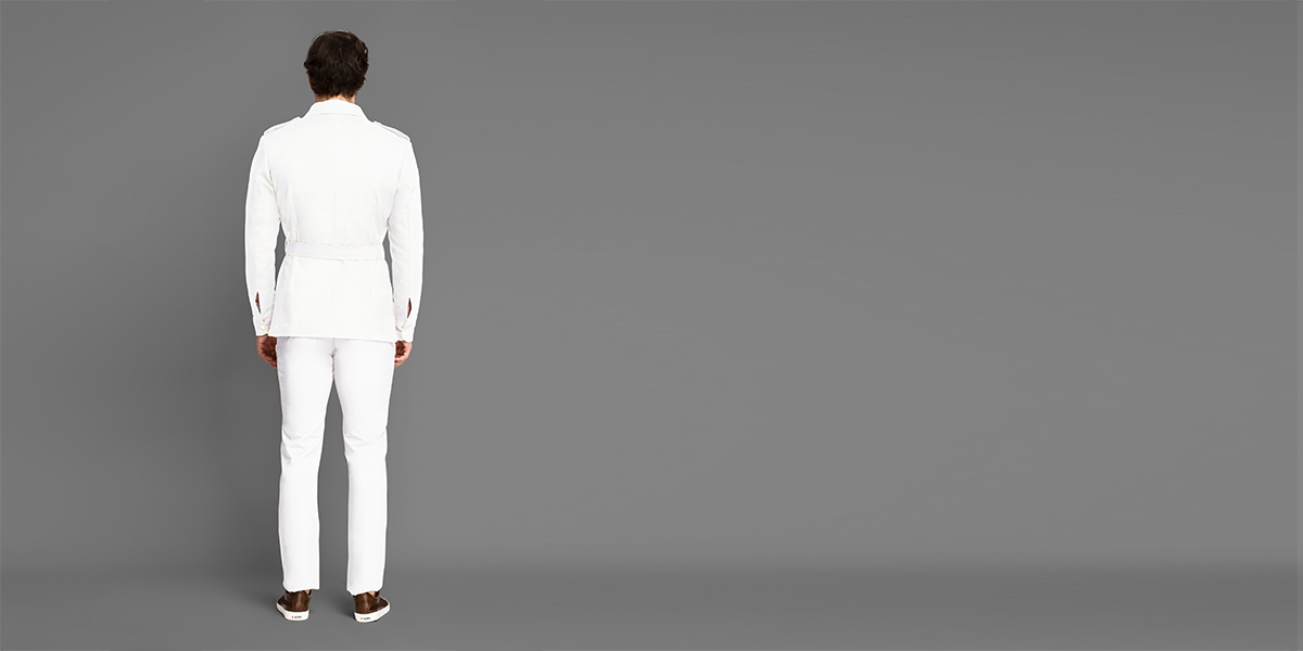 Napoli White Military Suit- view-2