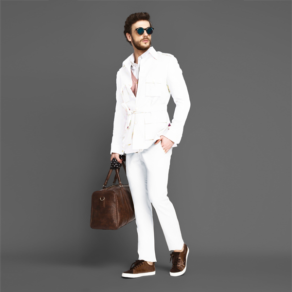 Napoli White Military Suit-mbview-1