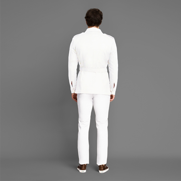 Napoli White Military Suit-mbview-2