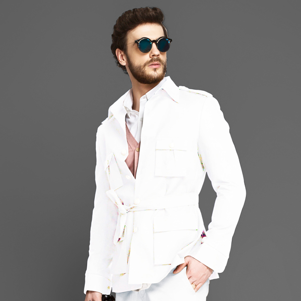 Napoli White Military Suit-mbview-3