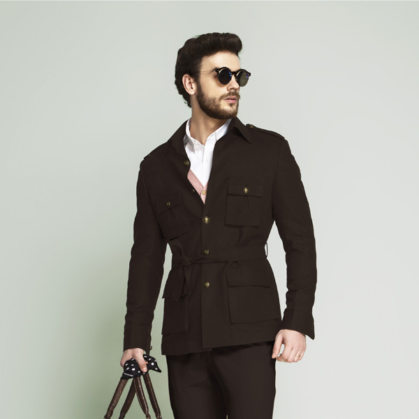 Forest Khaki Brown Military Suit-mbview-3