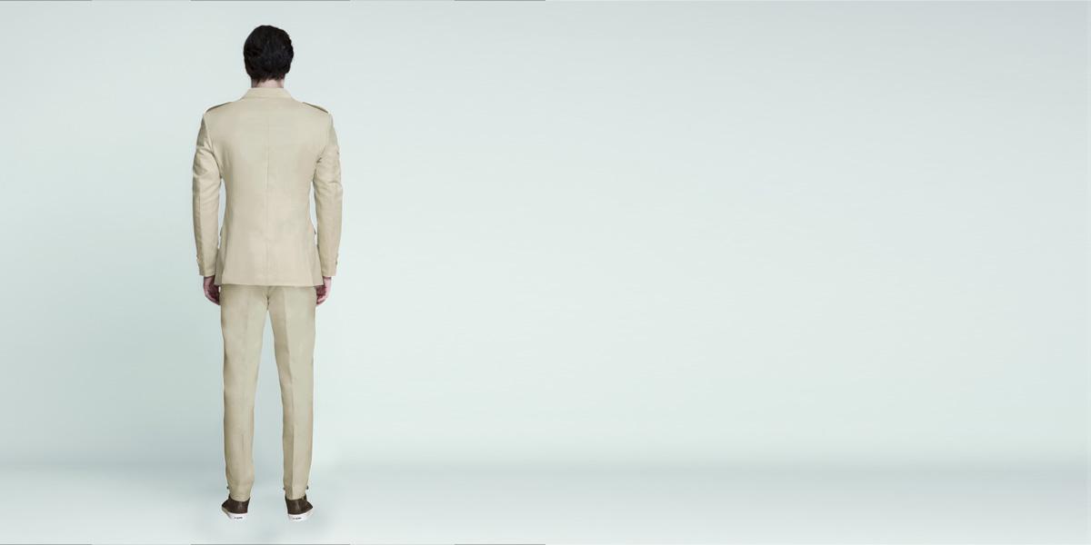 Camel Brown Khaki Leisure Suit- view-2