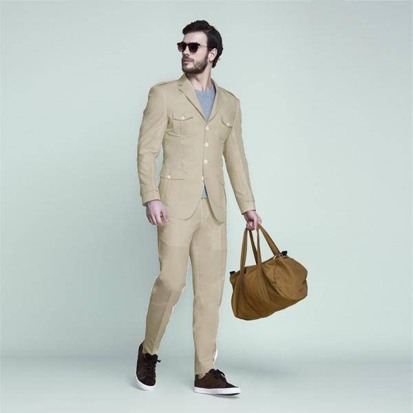 Camel Brown Khaki Leisure Suit-mbview-1