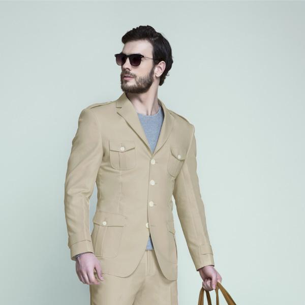 Camel Brown Khaki Leisure Suit-mbview-3