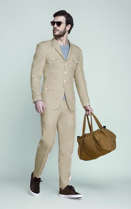 Camel Brown Khaki Leisure Suit