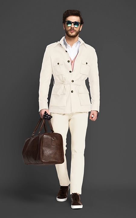 Colonial Beige Military Suit