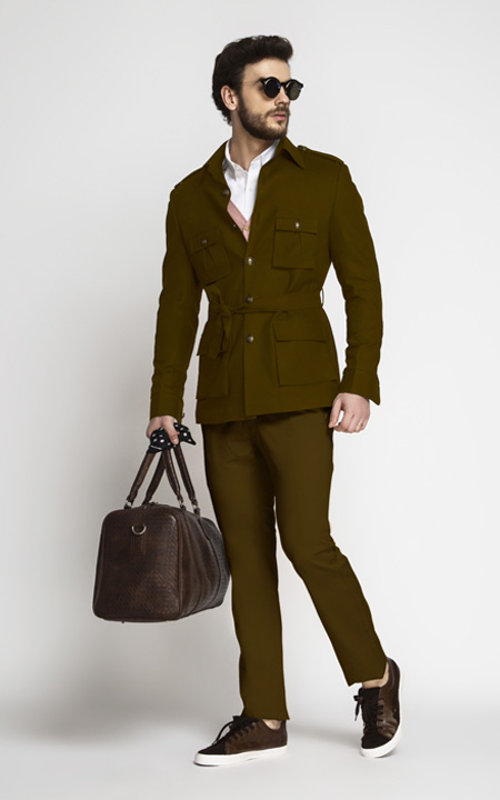 Simpson Brown Military Suit