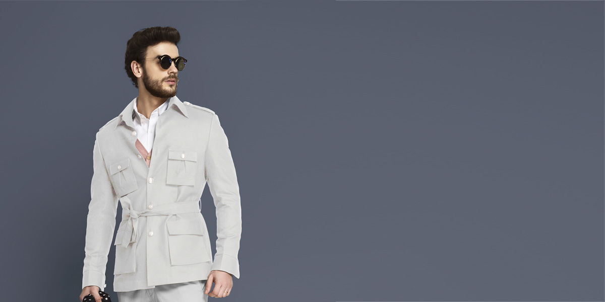 Slate Grey Military Suit- view-3