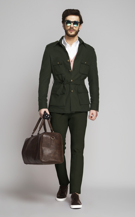Olive Green Leisure Suit