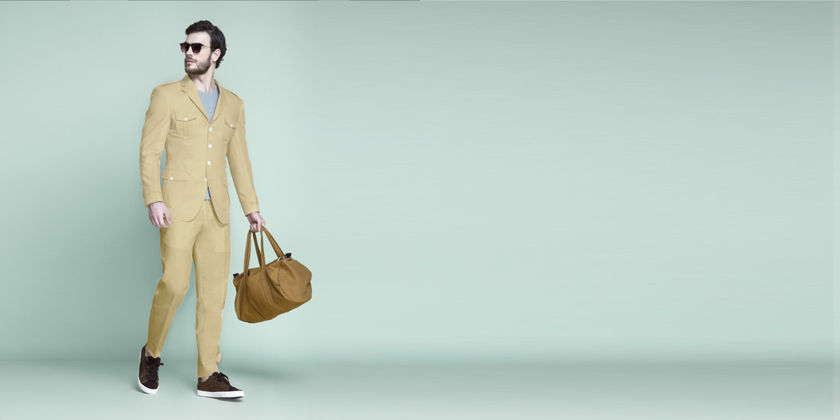Khaki Brown Leisure Suit- view-1