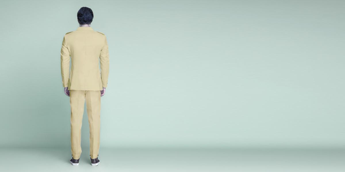 Khaki Brown Leisure Suit- view-2