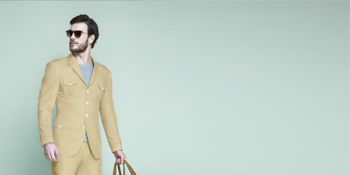 Khaki Brown Leisure Suit- view-3
