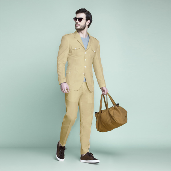 Khaki Brown Leisure Suit-mbview-1