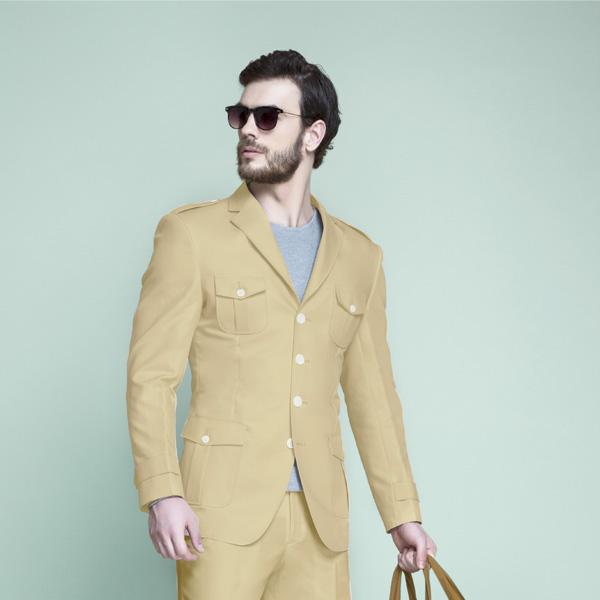 Khaki Brown Leisure Suit-mbview-3