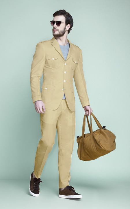 Khaki Brown Leisure Suit
