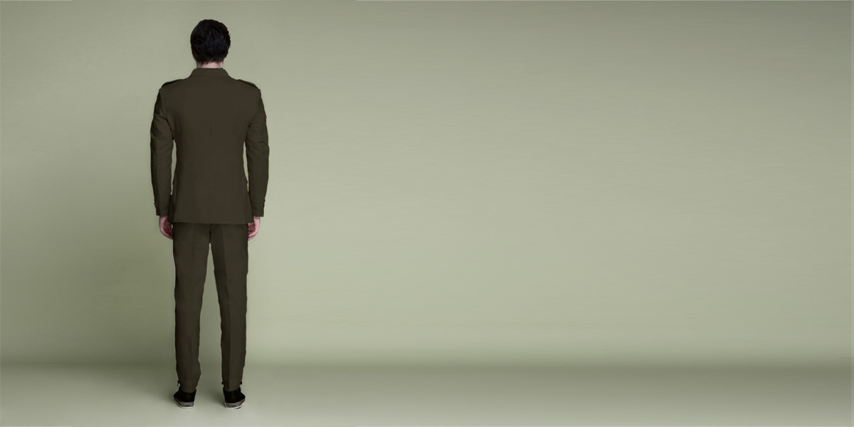 Taupe Green Leisure Suit- view-2