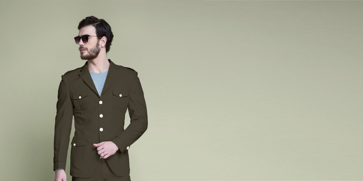 Taupe Green Leisure Suit- view-3