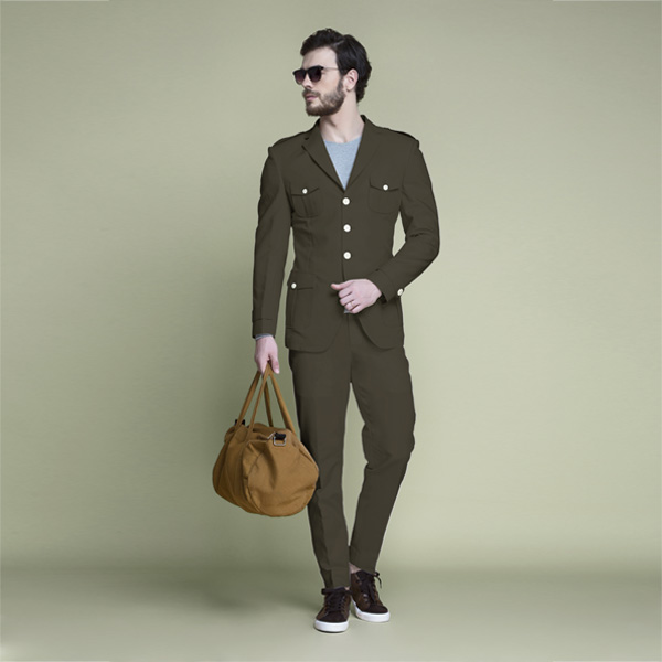 Taupe Green Leisure Suit-mbview-1