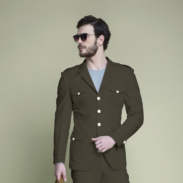 Taupe Green Leisure Suit-mbview-3
