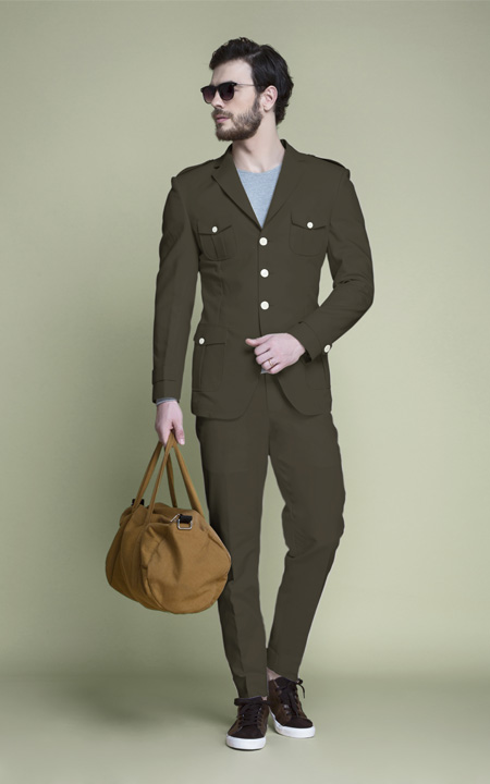 Taupe Green Leisure Suit