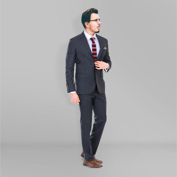 Glenn Plaid Suit-mbview-1