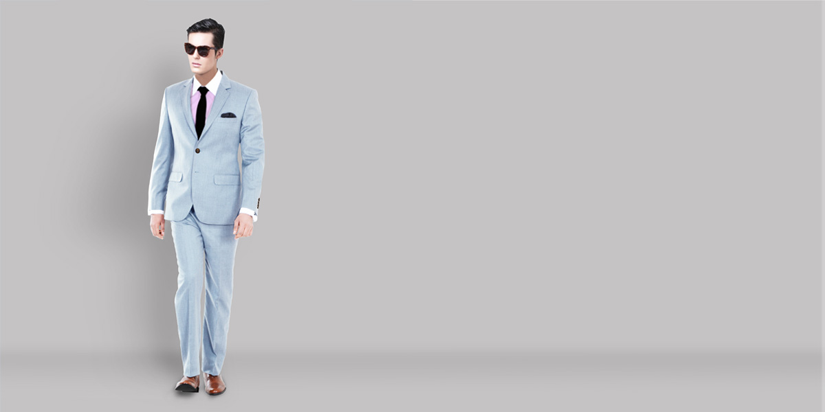 Premium 120s Light Blue Suit- view-1