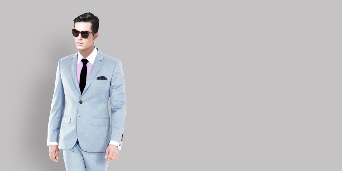 Premium 120s Light Blue Suit- view-2