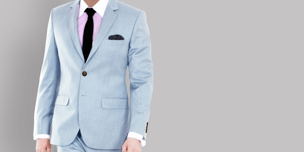 Premium 120s Light Blue Suit- view-3