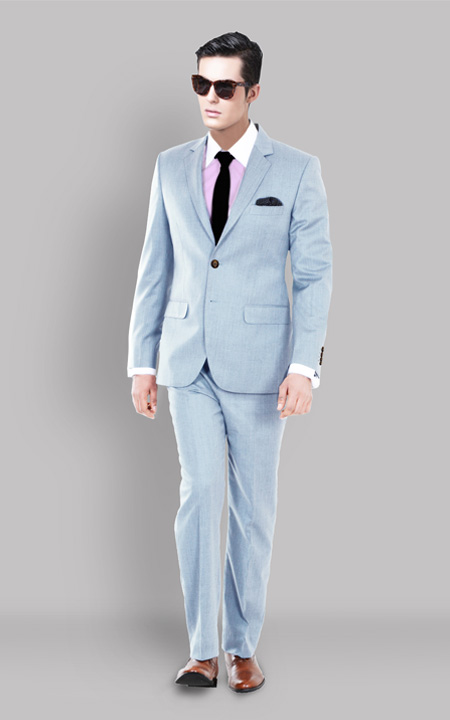 Premium 120s Light Blue Suit