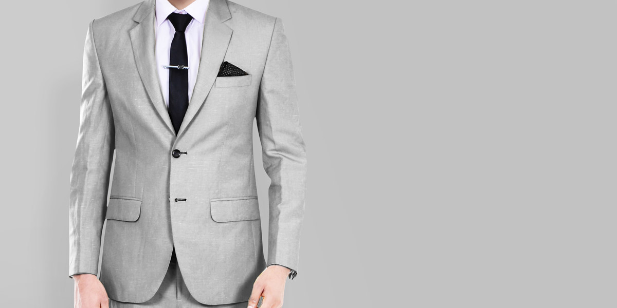 Light Grey Wool Silk Suit- view-3