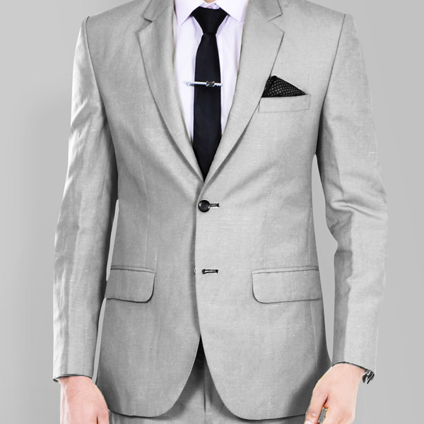 Light Grey Wool Silk Suit-mbview-3