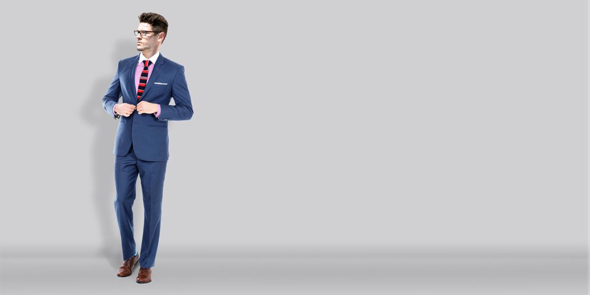 Turkish Blue Wool Suit- view-1